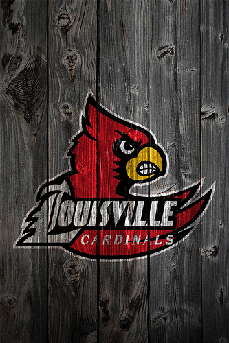 Louisville Cardinals Wood iPhone 4 Background 333x500