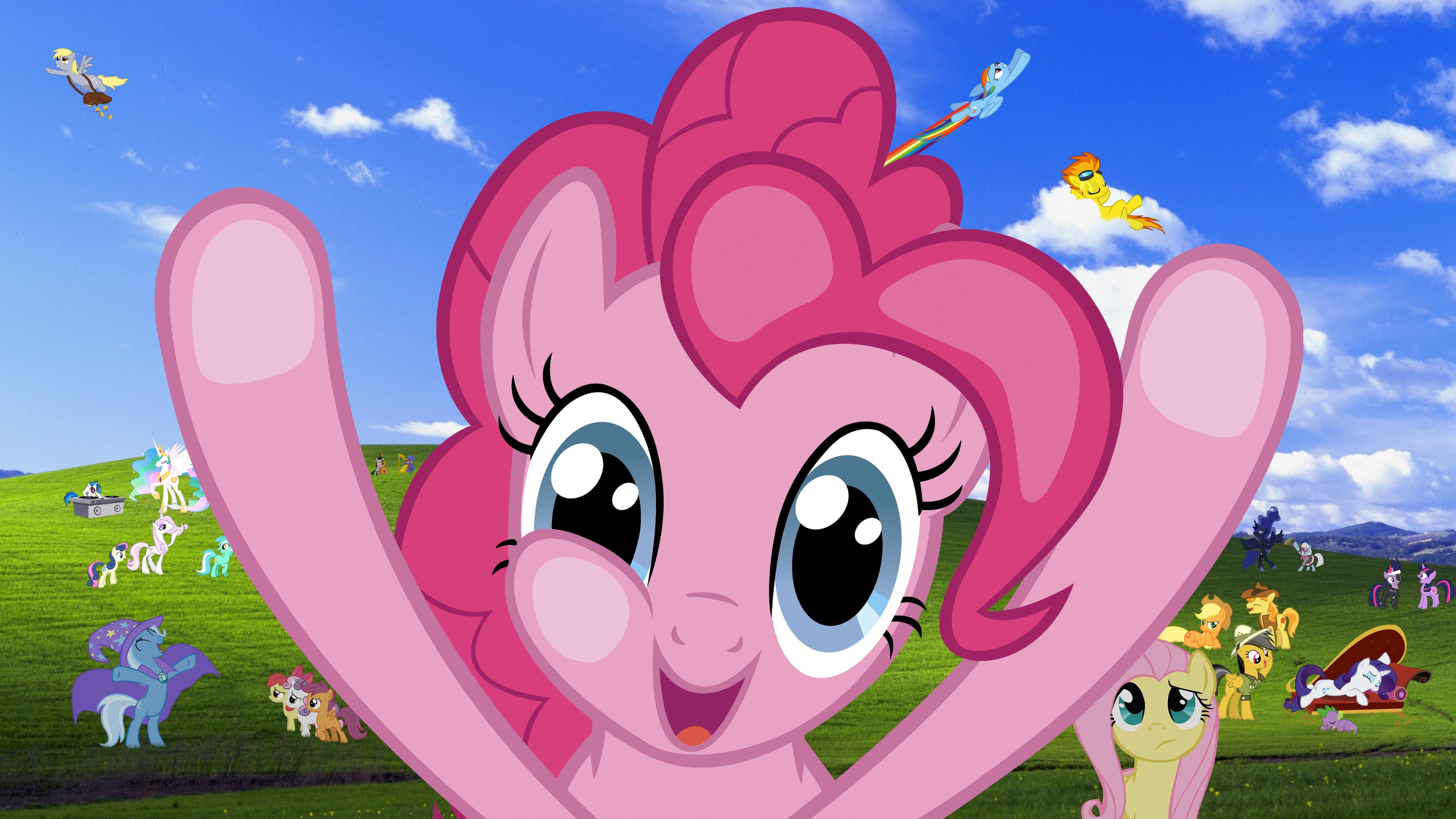 Windows Pony Wallpaper Pinkie Pie Version By RealBoser 4510x2537