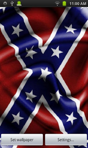 View bigger   Rebel Flag Live Wallpaper for Android screenshot 307x512