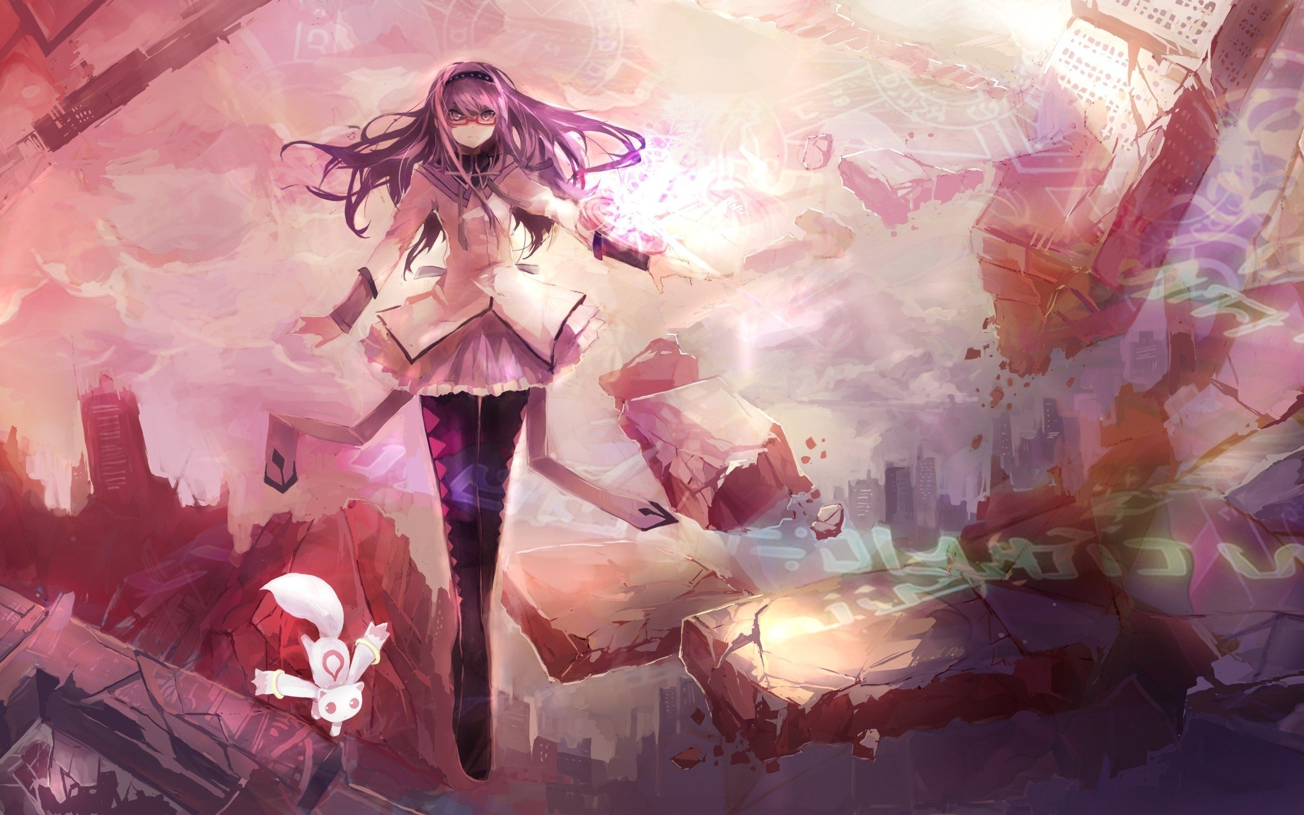 Free Download Anime Love Art Fight Picture Abstraction Beauty Girl