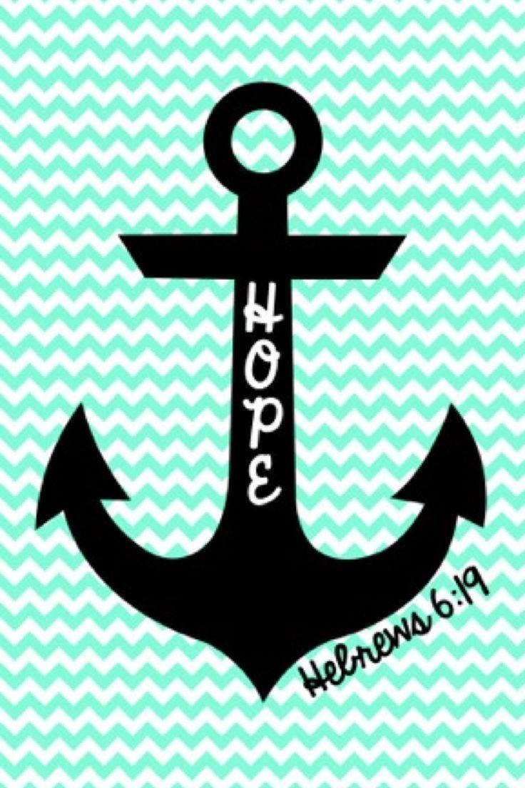 Cute anchor on chevron wallpaper 736x1104