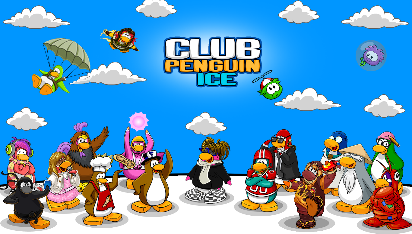 Wallpapers Club Penguin Ice 1366x778