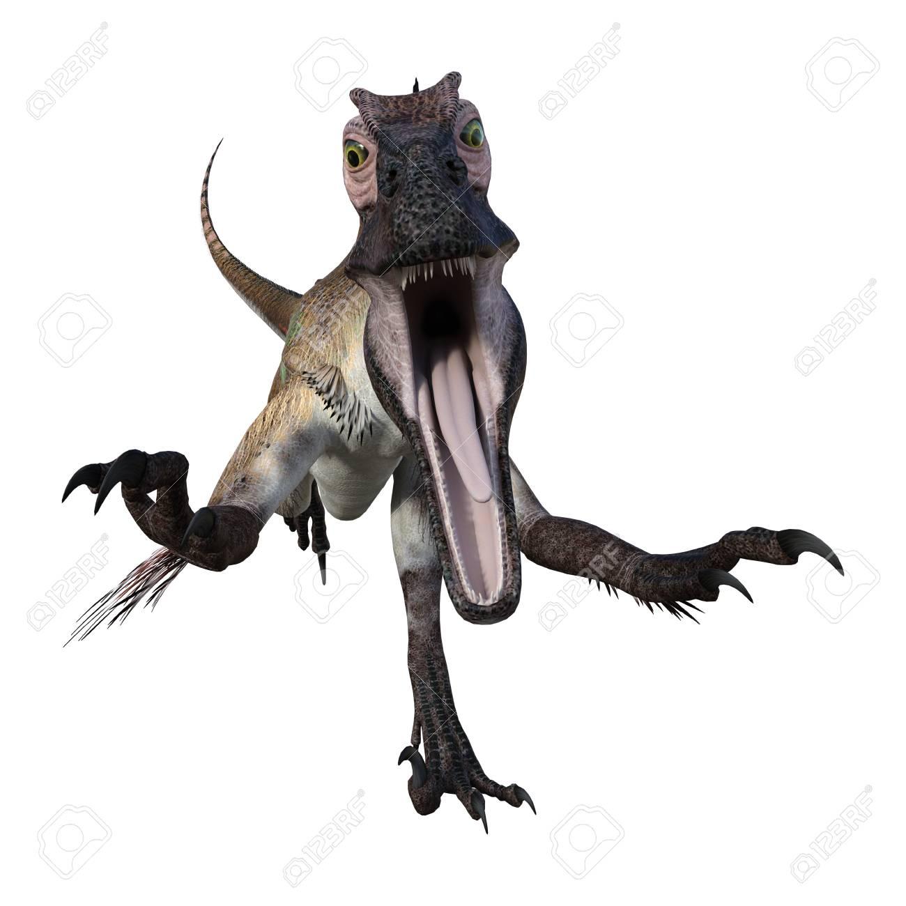 3D Rendering Of A Dinosaur Utahraptor Isolated On White Background 1300x1300