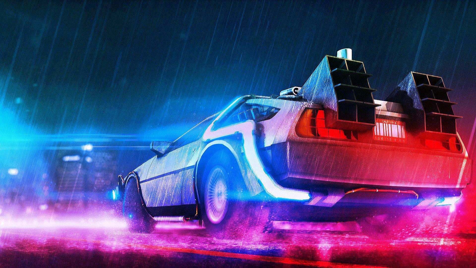 Back to the Future [1920x1080] Neon wallpaper Future wallpaper 1920x1080