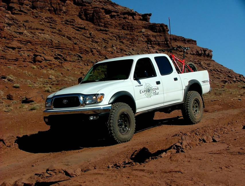 The Expeditions West 2004 Tacoma on the White Rim Trail 855x650