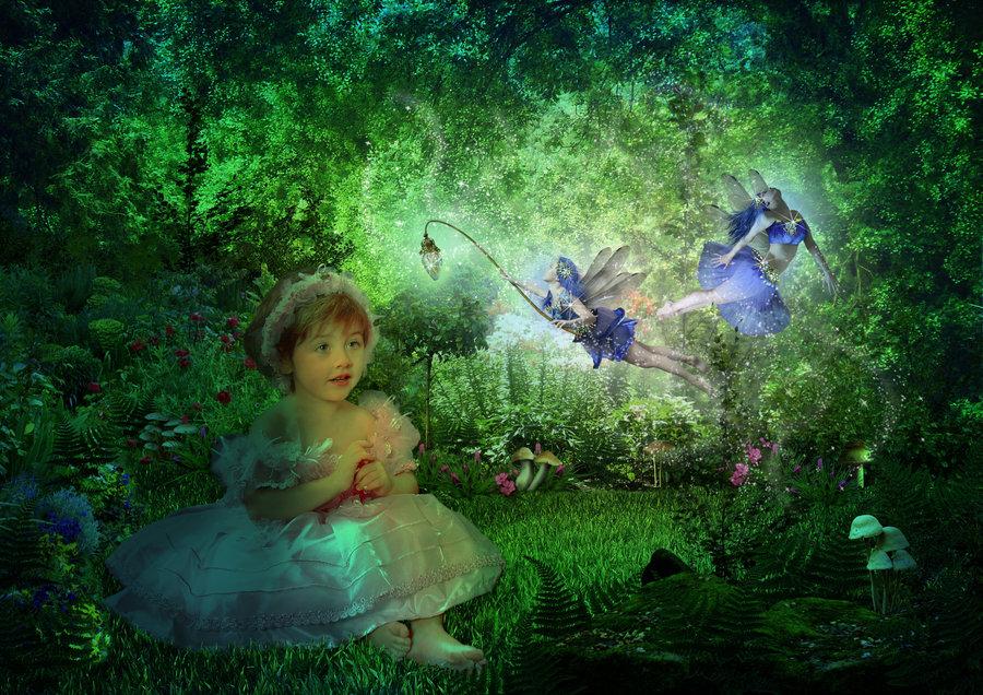 Fairy garden wallpaper wallpapersafari - Enchanted garden collection free download ...