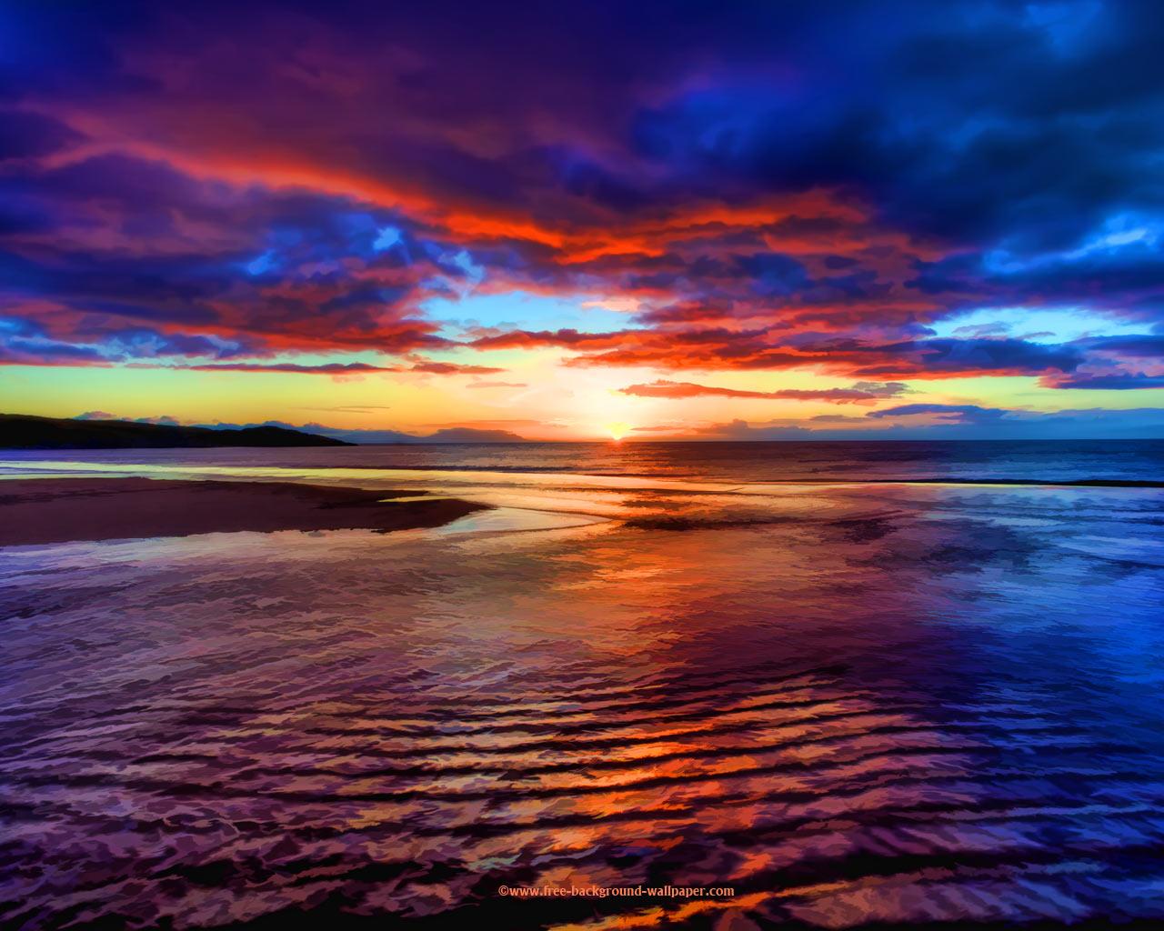 Free download Sunset Beach Scotland Beautiful Wallpaper ...