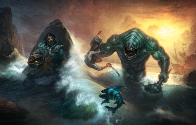 Wallpaper sea monster kunkka dota 2 Tidehunter Breg images 1332x850