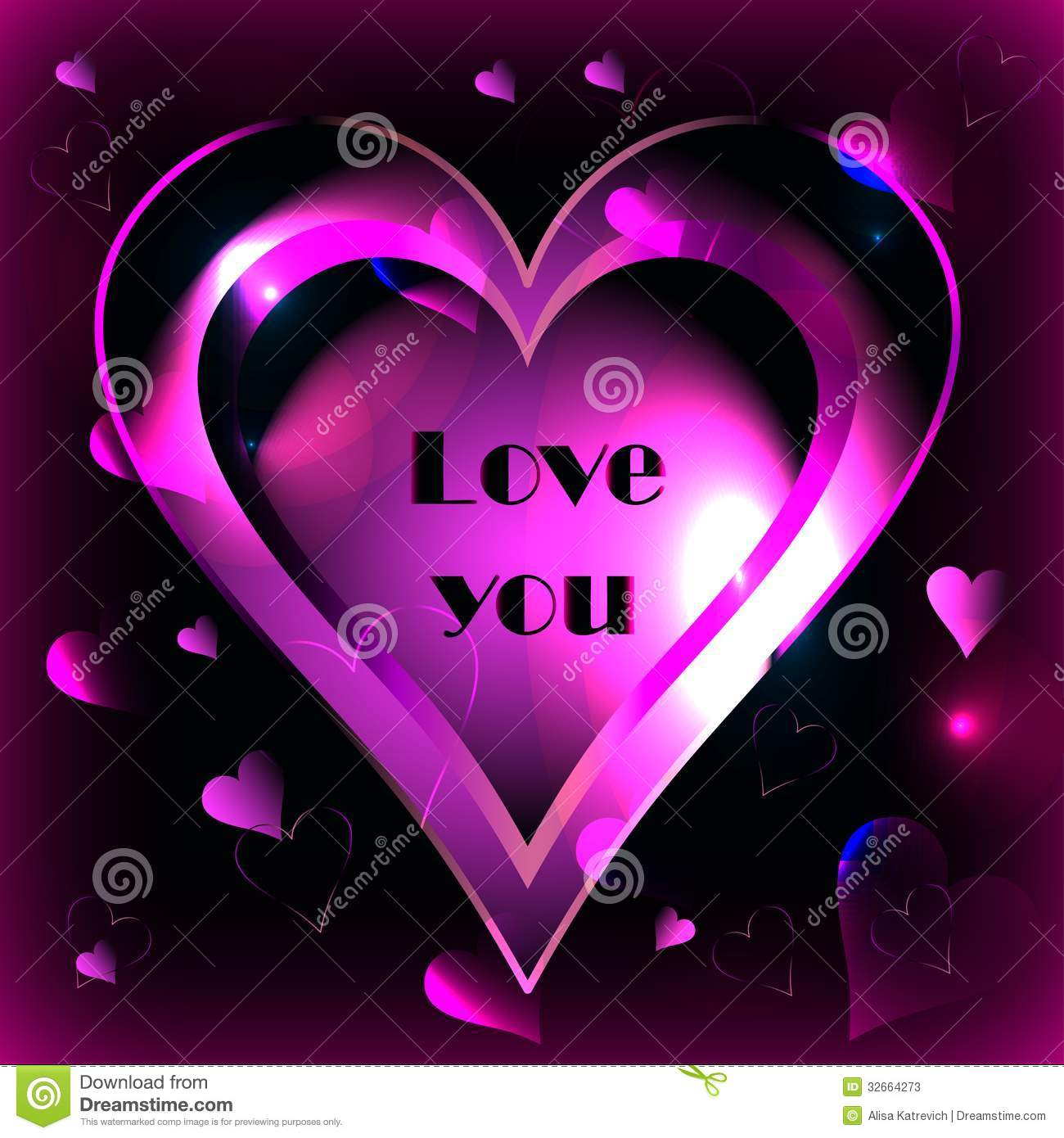 Pink Heart On A Black Background Vector Stock Photos   Image 32664273 1300x1390