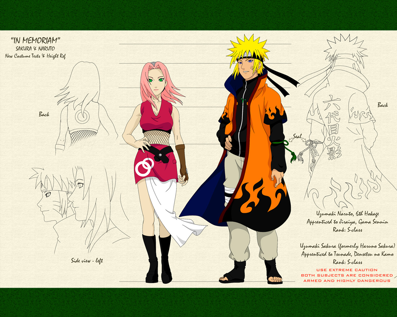 Naruto 6th Hokage Background Image for iPad   Cartoons Wallpapers 1280x1024