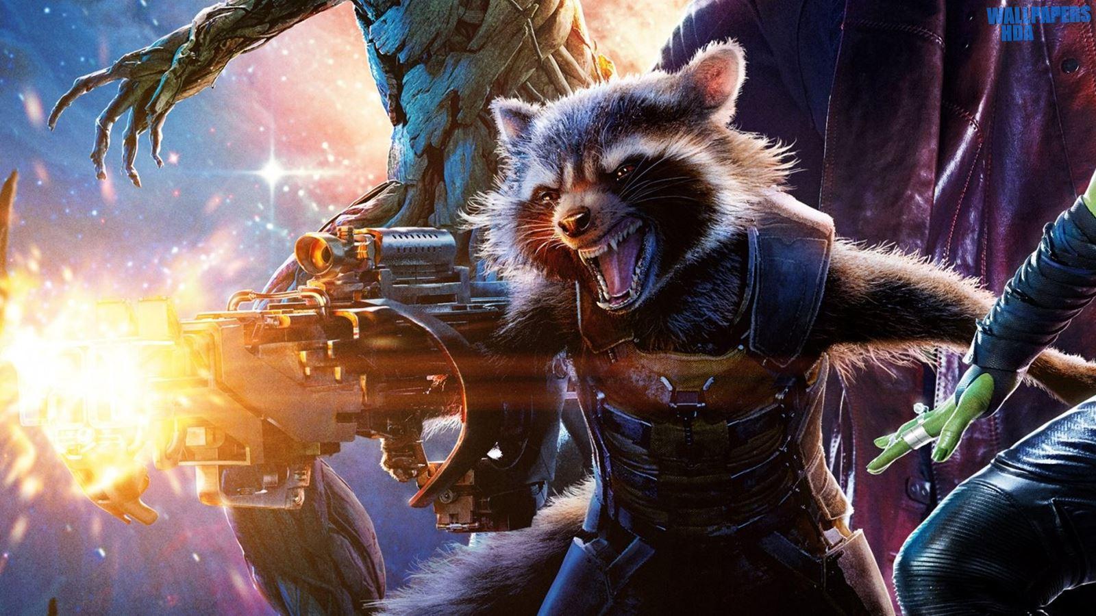 Guardians of the galaxy rocket raccoon wallpaper 1600900 1600x900