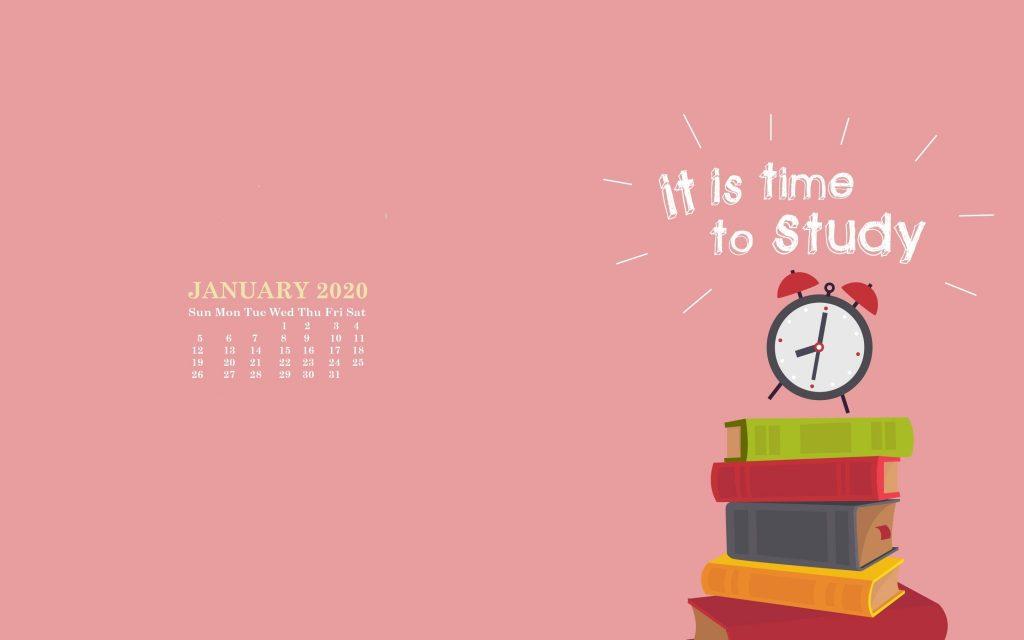 Monthly 2020 Desktop Wallpaper Calendar 2020 1024x640