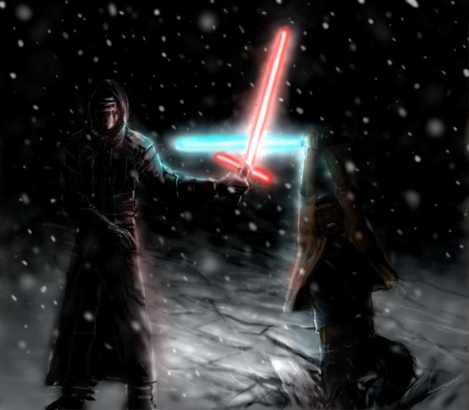 Kylo Ren Fights Finn   Star Wars by modji 33 956x835