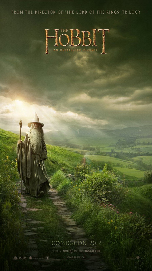 The Hobbit An Unexpected Journey iPhone 5 Wallpaper Background 4 640x1136