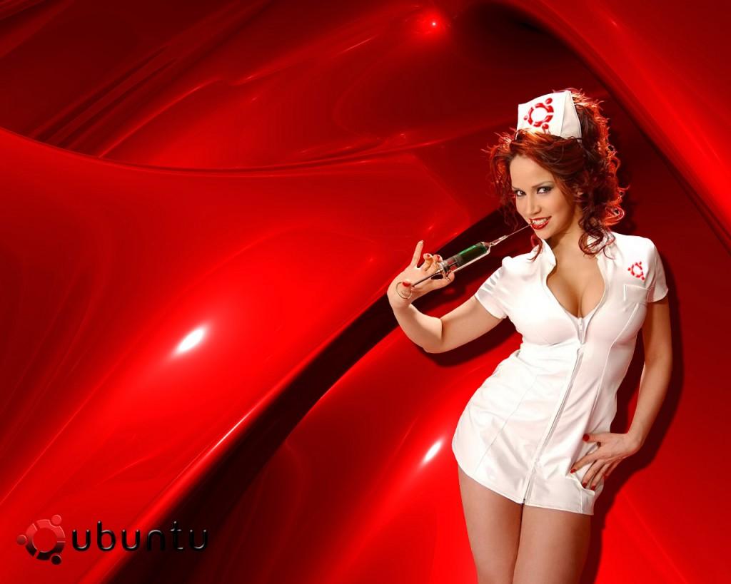 System immunized Ubuntu Wallpaper Sensual Hot Girl 1024x819