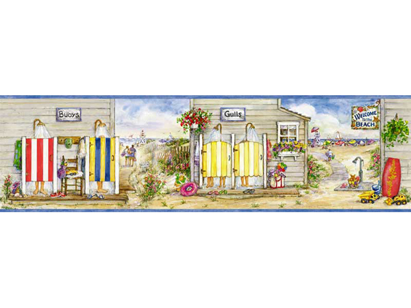 SAILING BEACH wallpaper border 9quot eBay summer each border 600x450