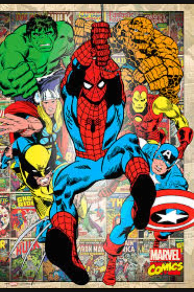 marvel comic book wallpaper wallpapersafari