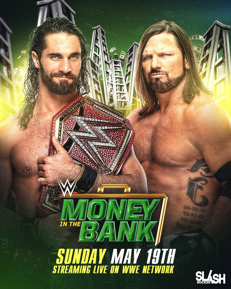 WWE Money in the Bank 2019 Poster by WWESlashrocker54 800x1000