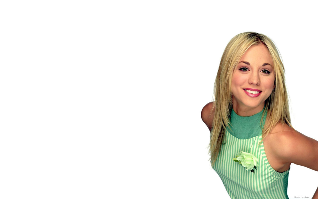 Kaley Cuoco desktop wallpaper download in widescreen 1280x800