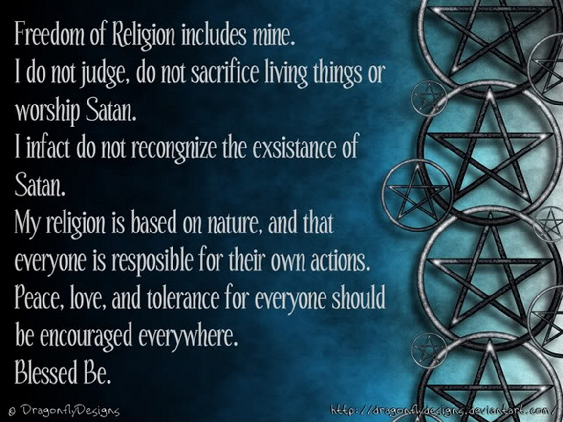 Freedom of Religion   Witchcraft Wallpaper 33375574 1152x864