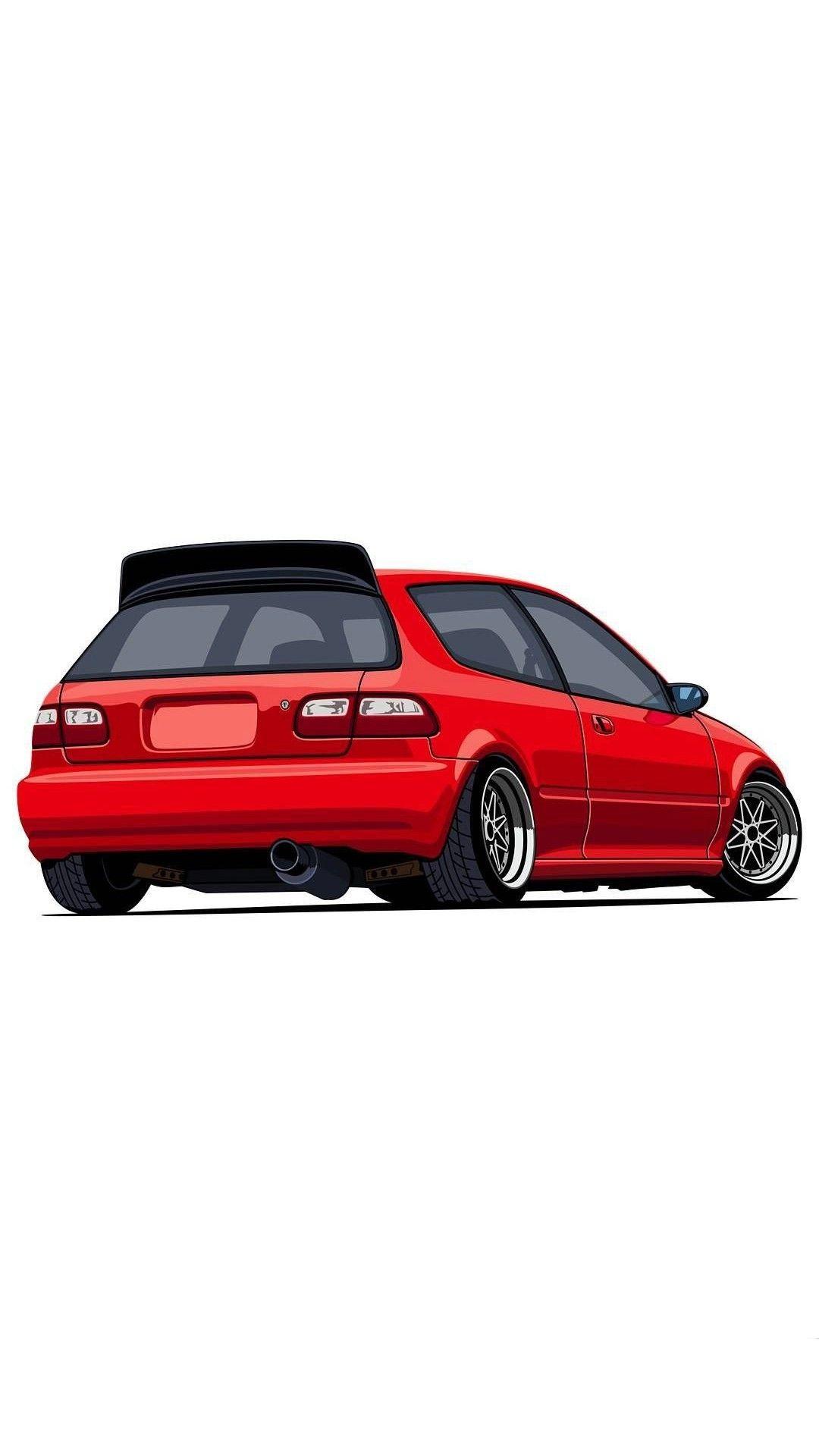 Estillo Car wallpapers Japan cars Civic hatchback 1080x1920