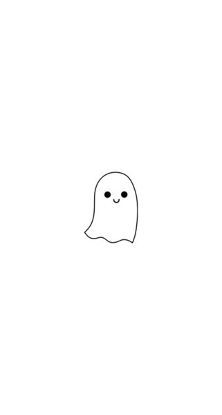 cute ghost halloween iphone teen teenager wallpaper   image 321x600