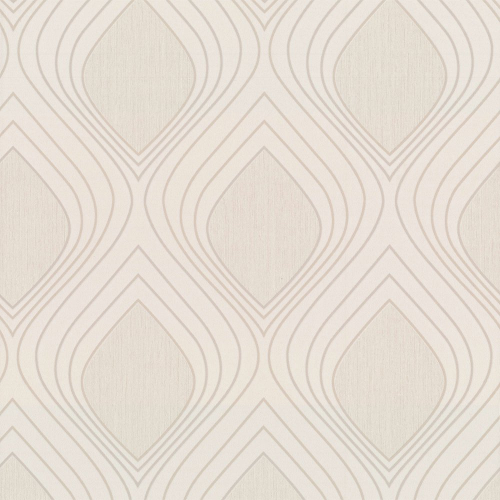Cream and white wallpaper wallpapersafari for Brown and cream living room wallpaper