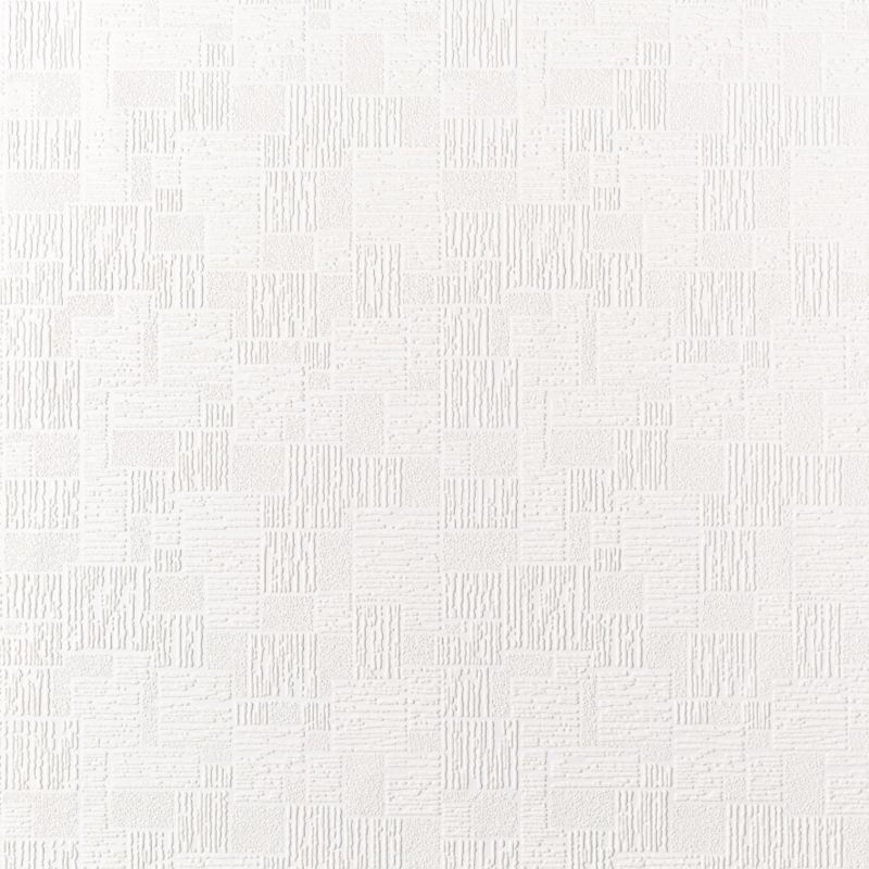 Square Paintable Wallpaper in White with a Vinyl finish by Superfresco 800x800