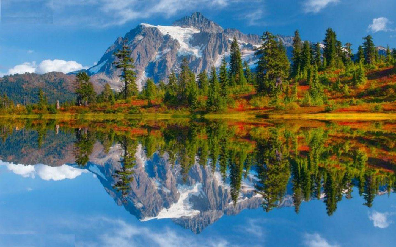 North Cascades National Park Washington Usa Autumn Lidscape 1440x900