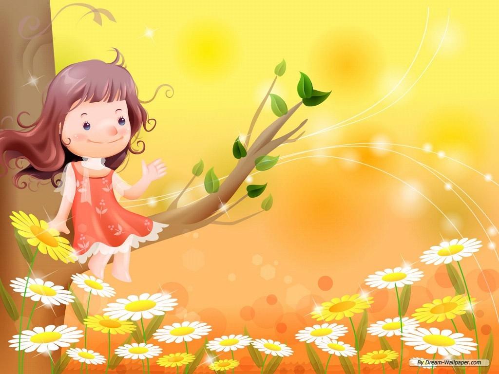Wallpaper Cartoon Vector Childhood 1 1024x768