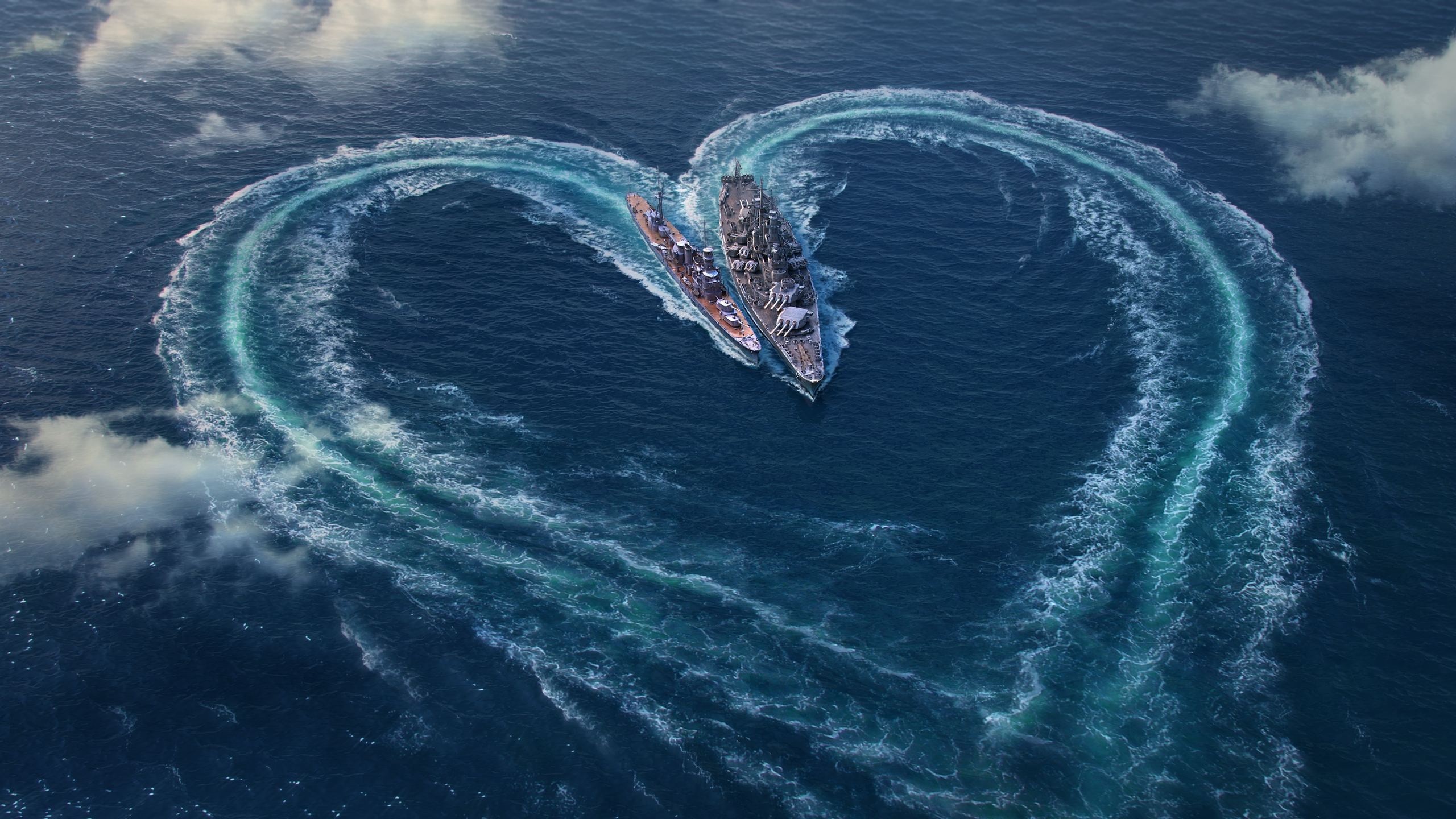 Valentines Day Wallpapers World of Warships 2560x1440