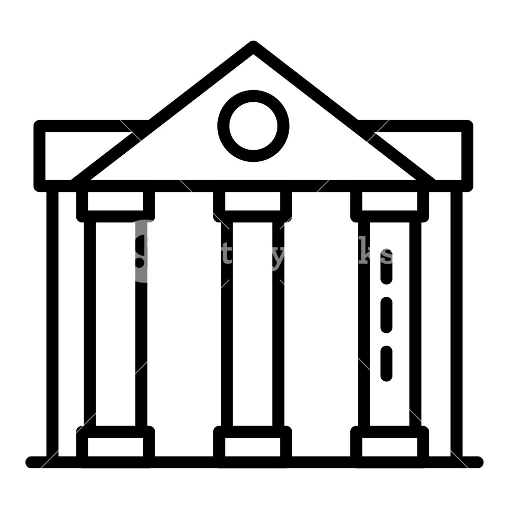 Column courthouse icon Outline column courthouse vector icon for 1000x1000