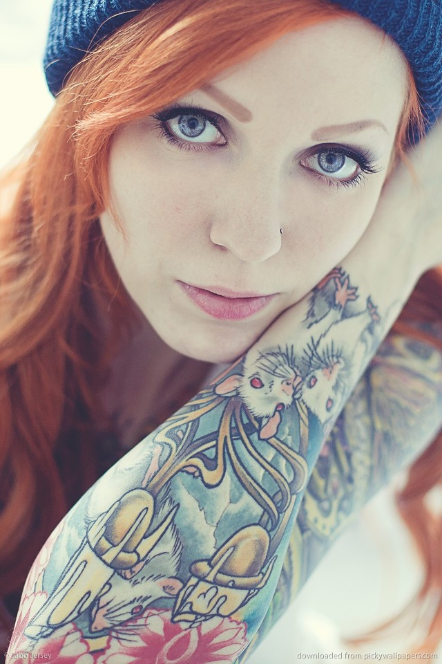Inked Girls Wallpaper   Hot Girls Wallpaper 640x960