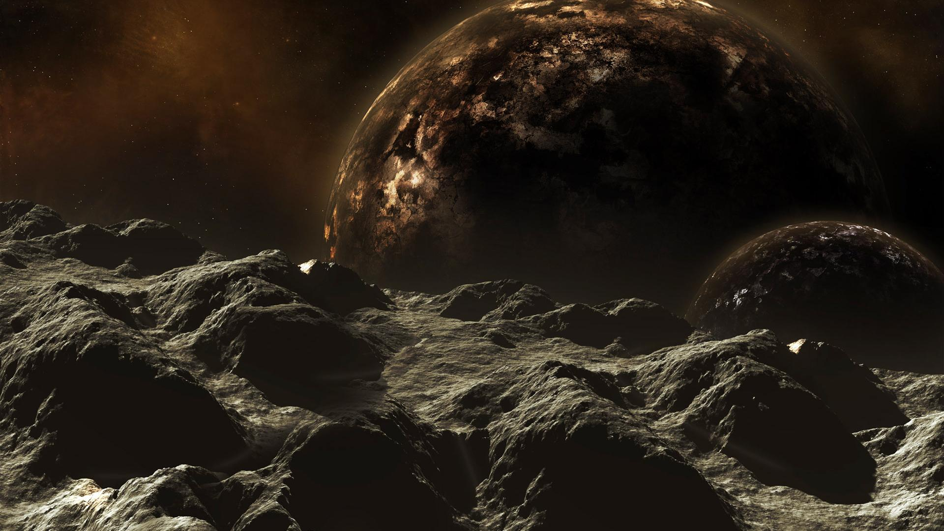 Space dark planet HD 1920x1080 1920x1080