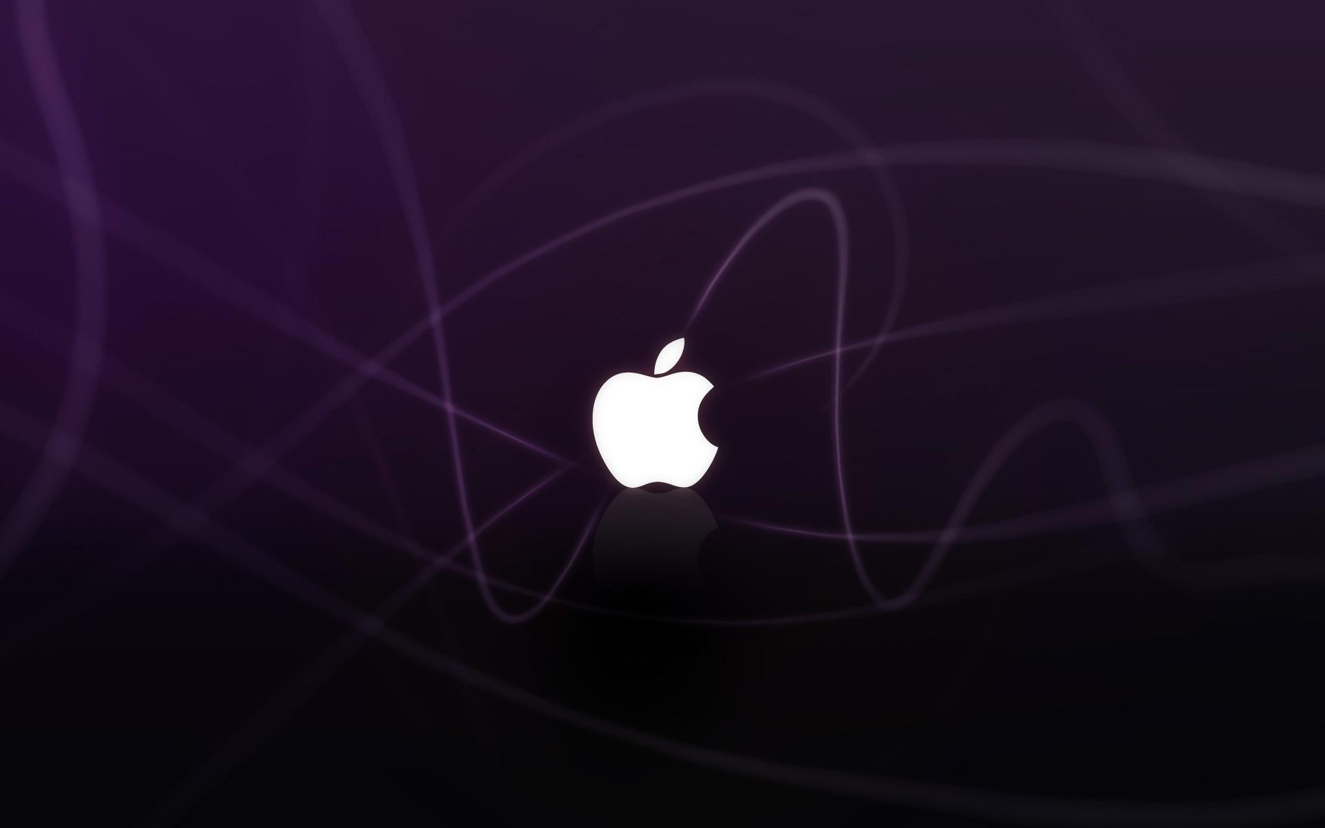 Apple Logo Purple Waves Wallpapers HD Wallpapers 1920x1200
