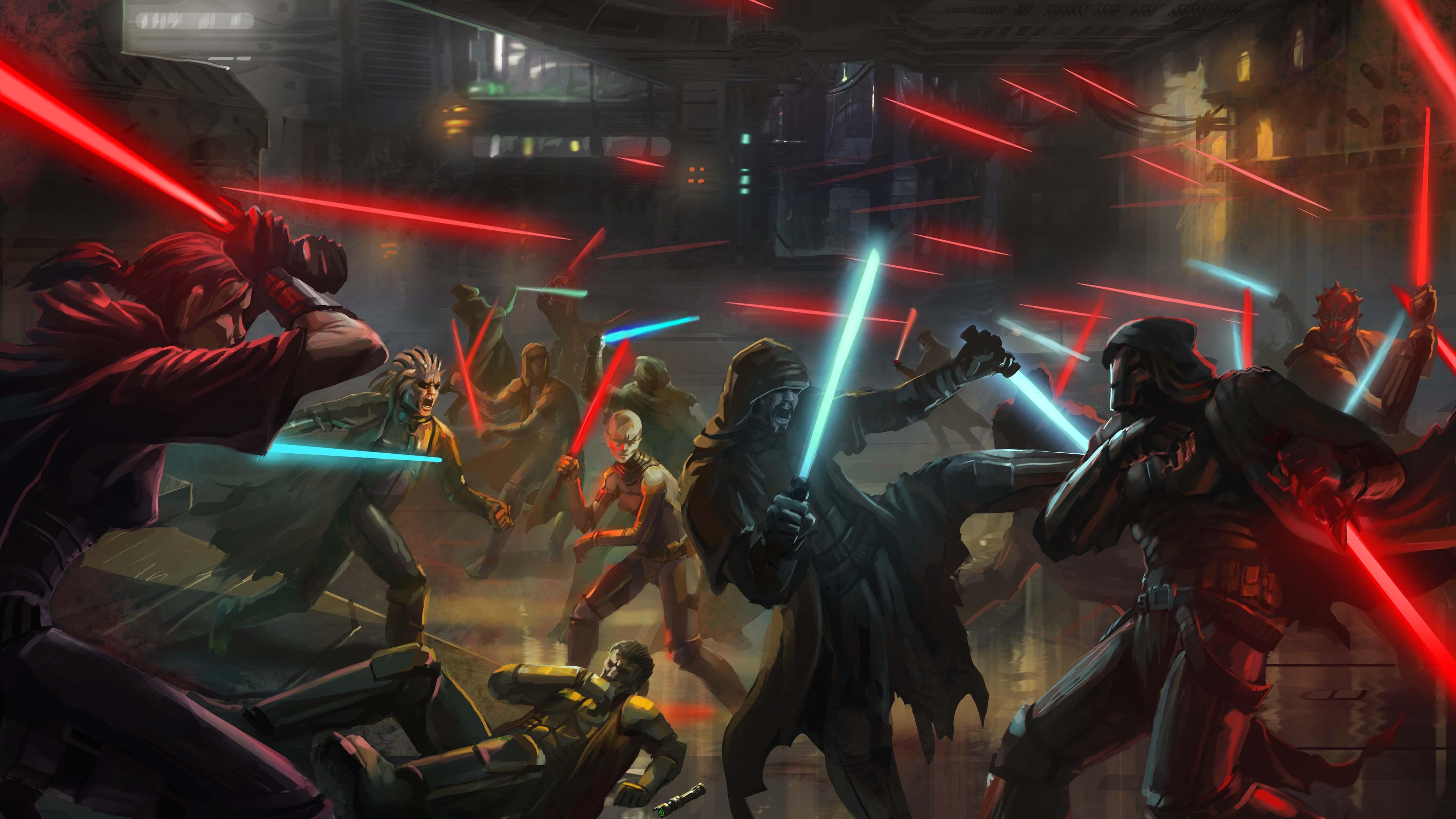Star wars star wars the old republic art sith jedi wallpaper 4444x2500