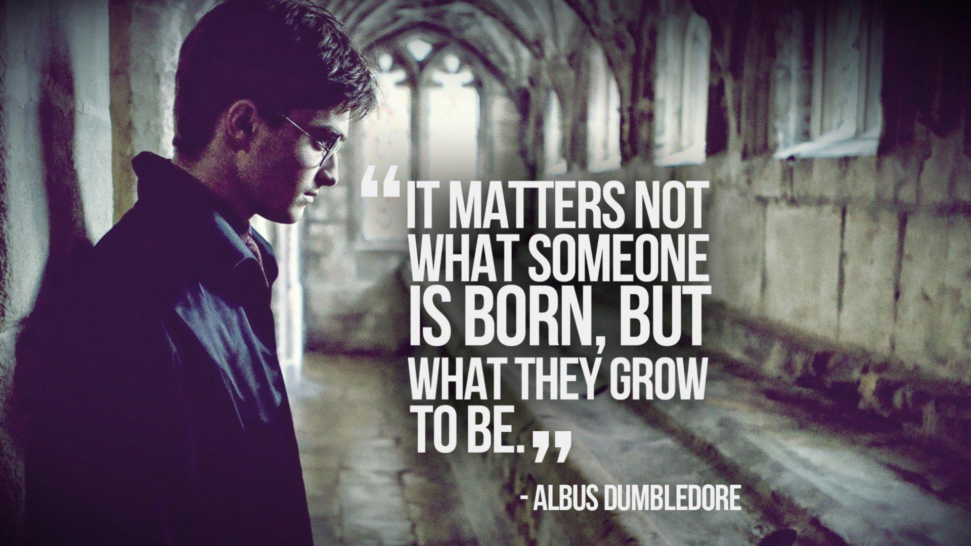 quotes Harry Potter Daniel Radcliffe Albus Dumbledore 1920x1080