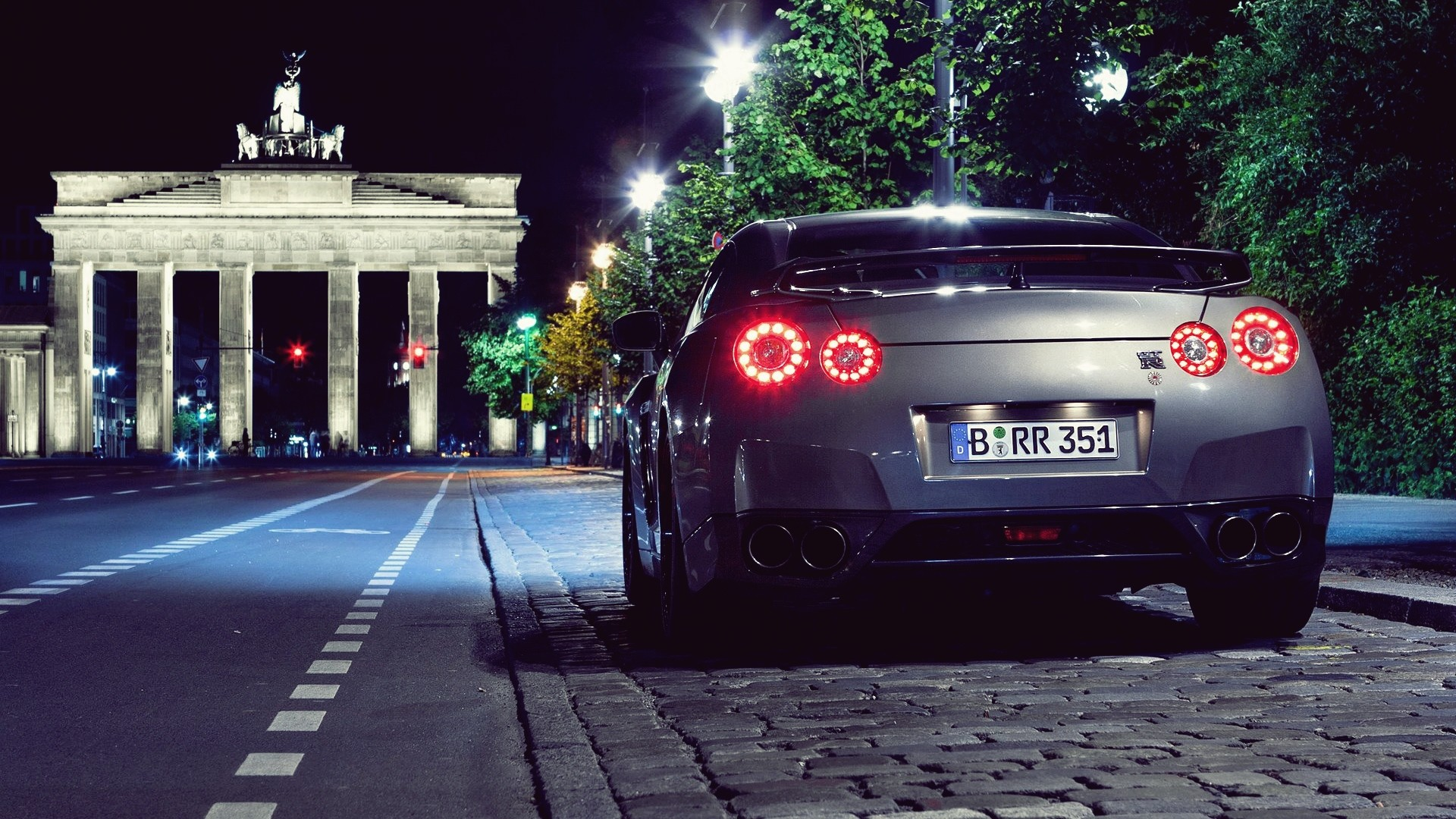 night cars Nissan roads vehicles GTR Nissan R35 GT R Nissan 1920x1080
