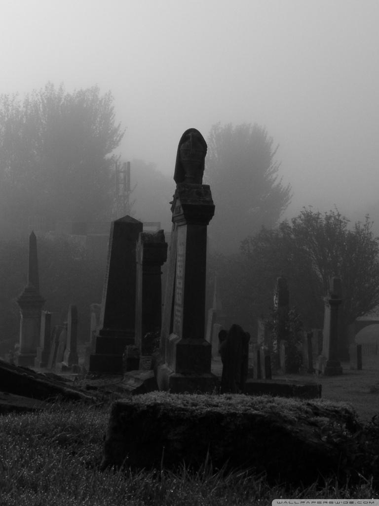 Spooky Cemetery Ultra HD Desktop Background Wallpaper for 4K UHD 768x1024