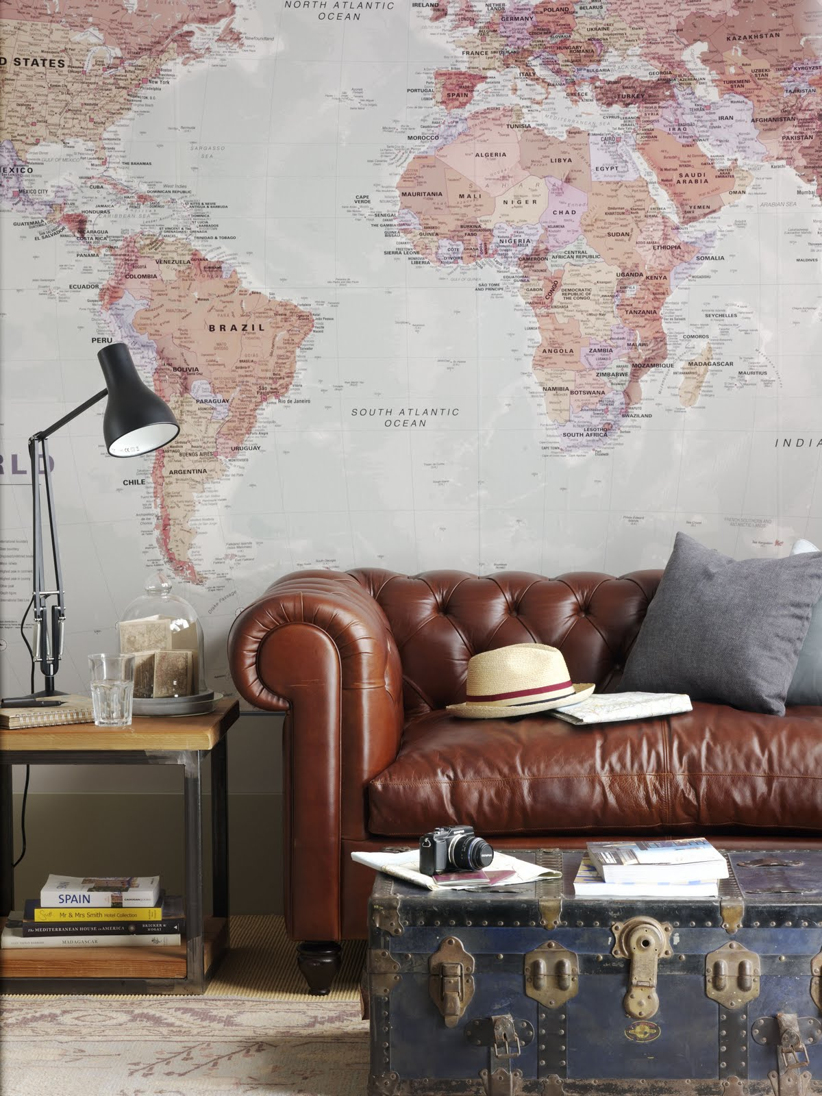 Our World Map mural was used recently in this inspiring photoshoot for 1200x1600