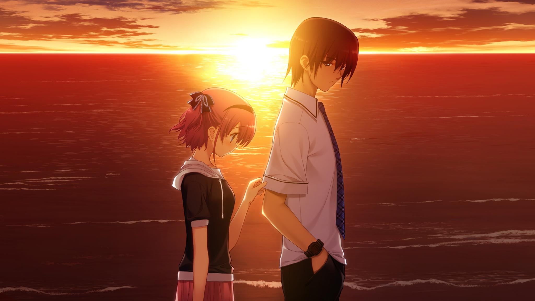 Cute anime couple wallpaper wallpapersafari - Couple wallpaper download ...