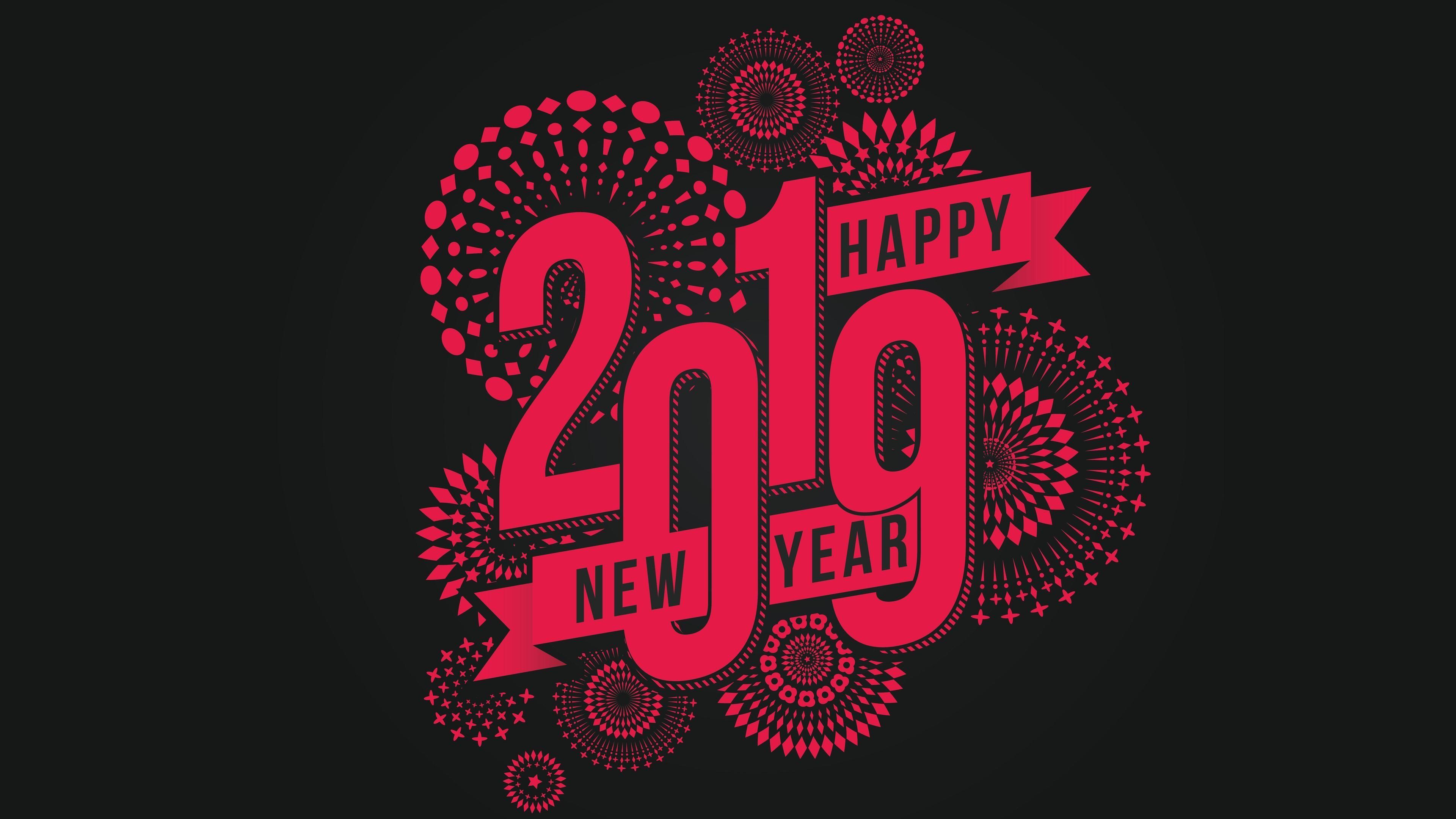 Happy New Year 2019   freshwallpapersnet [3840x2160] Happy new 3840x2160