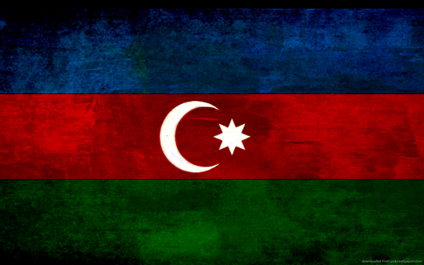 Flag Of Azerbaijan   The Symbol Of Islamic and Turkish Culture 1440x900