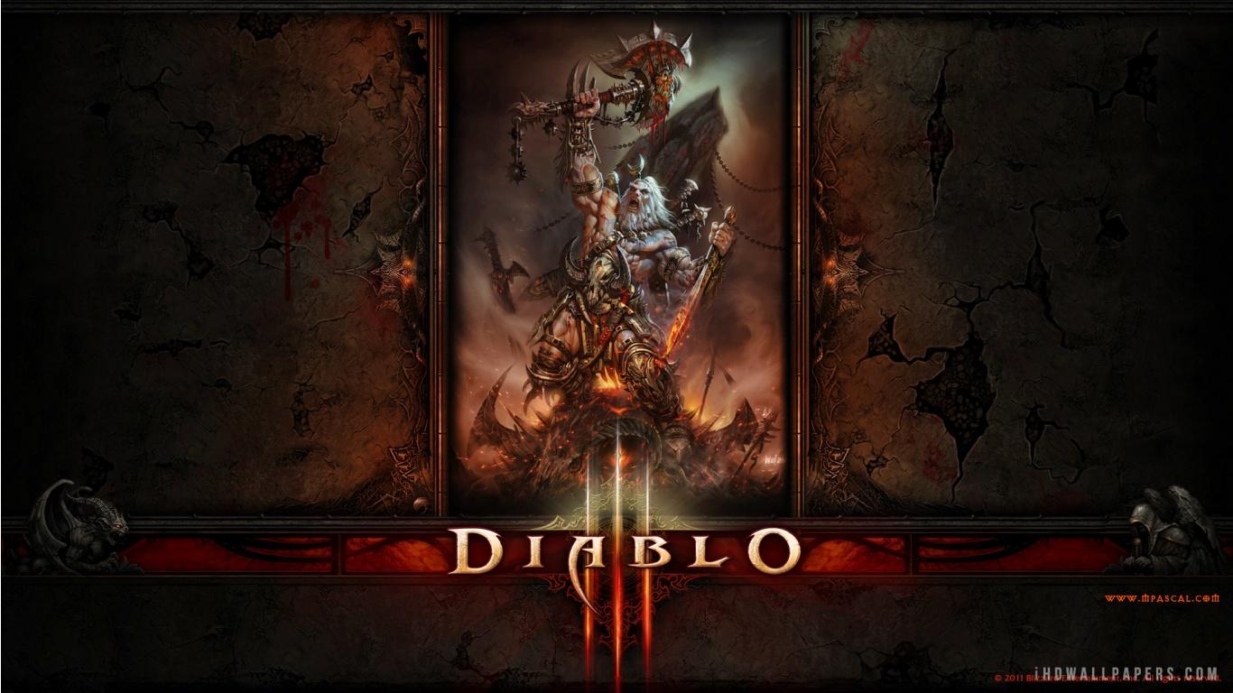 Diablo 3 Barbarian Wallpaper 1366x768