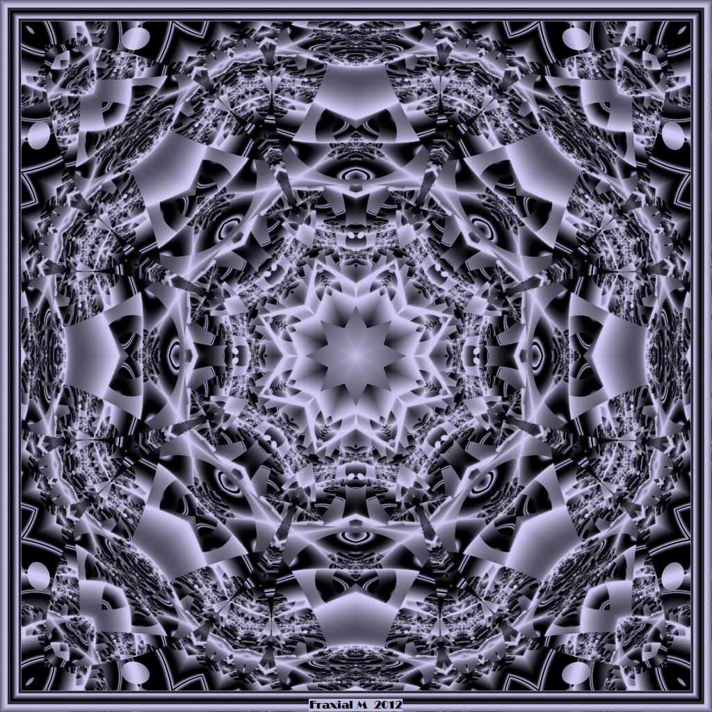 Barnsley Black And White Mandala by fraxialmadness3 1024x1024
