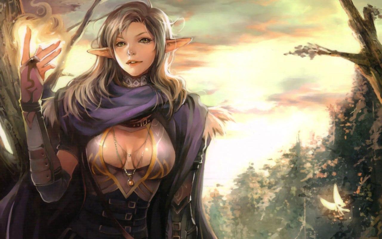 elf showing magic Wallpaper Background 27316 1280x800