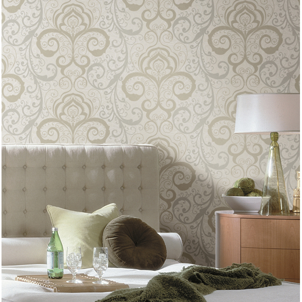 Pink Henna Brocade   Vanessa   Christel Wallpaper by Chesapeake 600x600