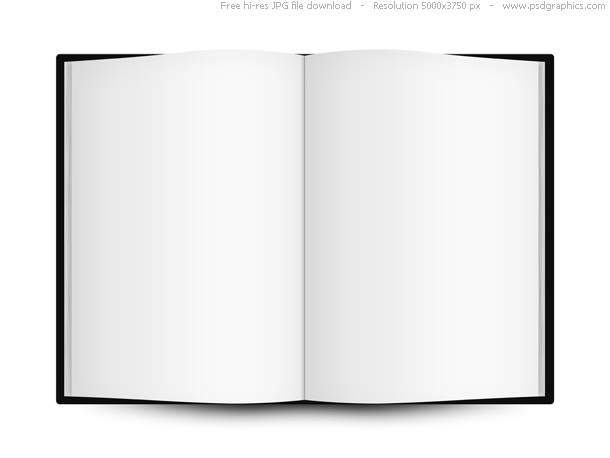 with blank pages isolated on white background High resolution white 610x458