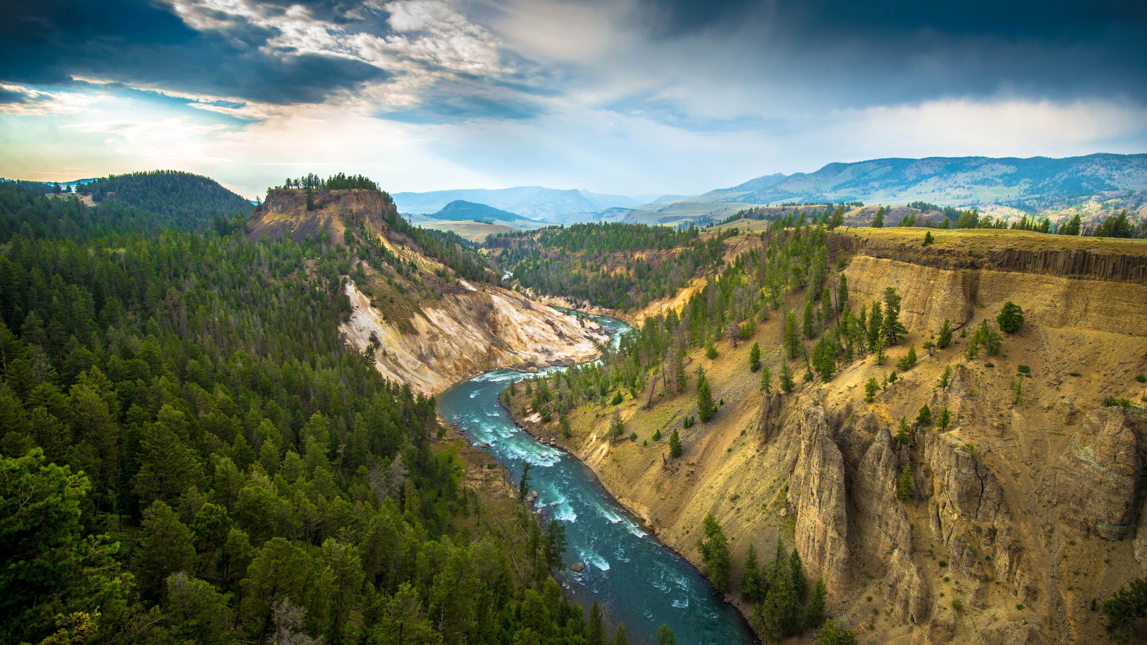 of Yellowstone National Park USA Wallpaper for Desktop 4K 3840 x 2160 3840x2160