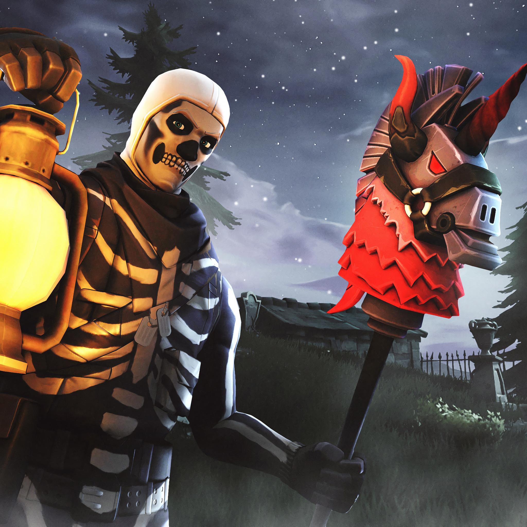 2048x2048 Skull Trooper Fortnite Season 6 4K Ipad Air HD 4k 2048x2048
